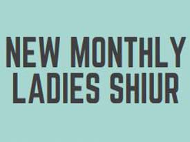 Monthly ladies Shiur with Joanne Dove